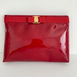 NWT Vintage Ferragamo Cluch/Shoulder 2-way purse